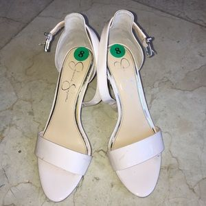 Jessica Simpson Nude open toe heels